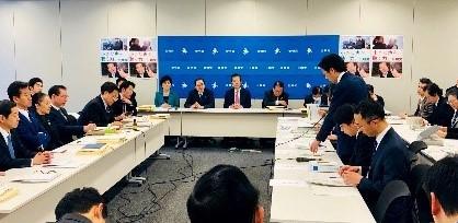 公明党『新型コロナウイルス感染症対策本部』に出席