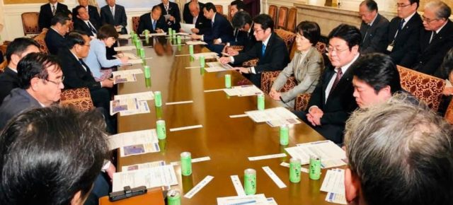 自民党『北朝鮮核実験・ミサイル問題対策本部』役員会を開催(衆議院内・自民党総裁室)