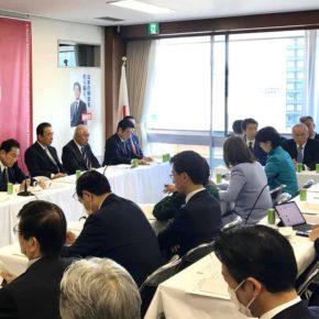 自民党『新型コロナウイルス関連肺炎対策本部』へ出席