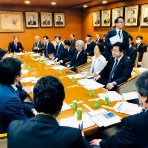 自民党『北朝鮮核実験・ミサイル問題対策本部』役員会を開催(党本部総裁応接室)