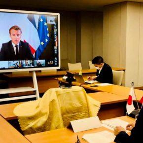 レバノンでの大爆発事故への支援のための国際会議にて日本政府を代表し発言しました。